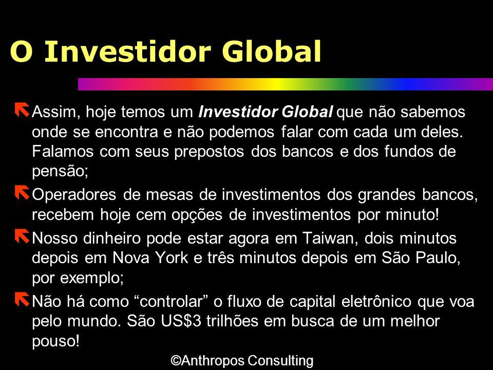 O Investidor Global ë Assim, hoje temos um Investidor Global que não sabemos onde se encontra e não podemos falar com cada um deles. Falamos com seus