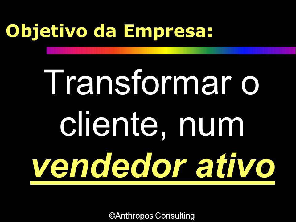 Objetivo da Empresa: Transformar o cliente, num vendedor ativo ©Anthropos Consulting