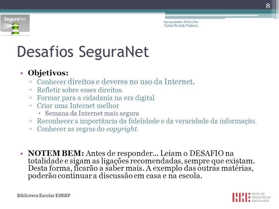Objetivos da sessão I (Re)conhecer situações de risco associadas à utilização das TIC; Conhecer formas de evitar/minorar situações de risco; Refletir sobre os nossos próprios comportamentos online.