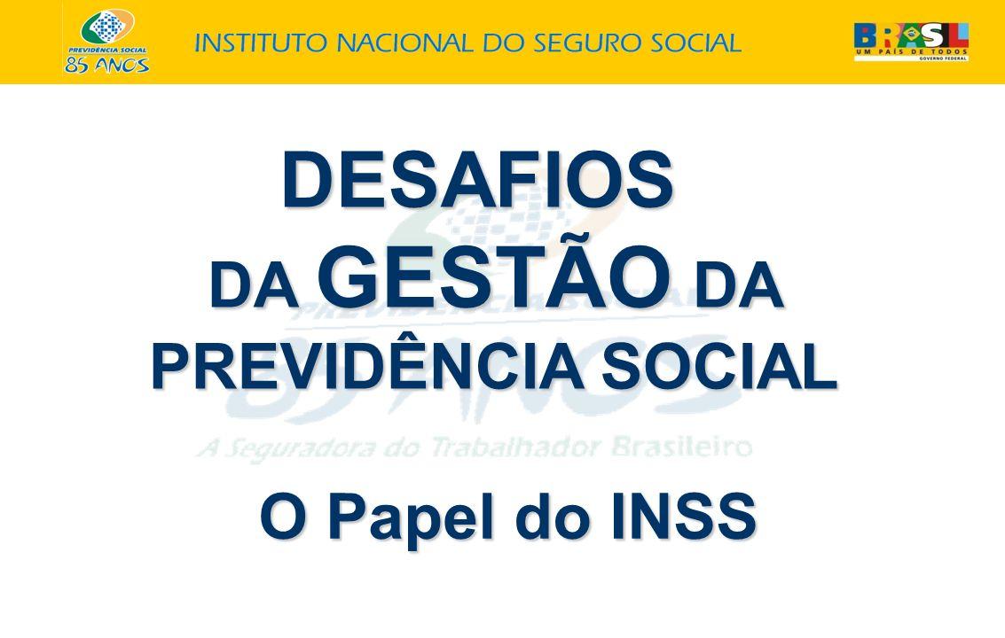 DESAFIOS DA GESTÃO DA PREVIDÊNCIA SOCIAL O Papel do INSS