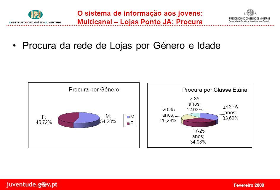 Fevereiro 2008 O sistema de informação aos jovens: Multicanal - Rede de Lojas Ponto JA