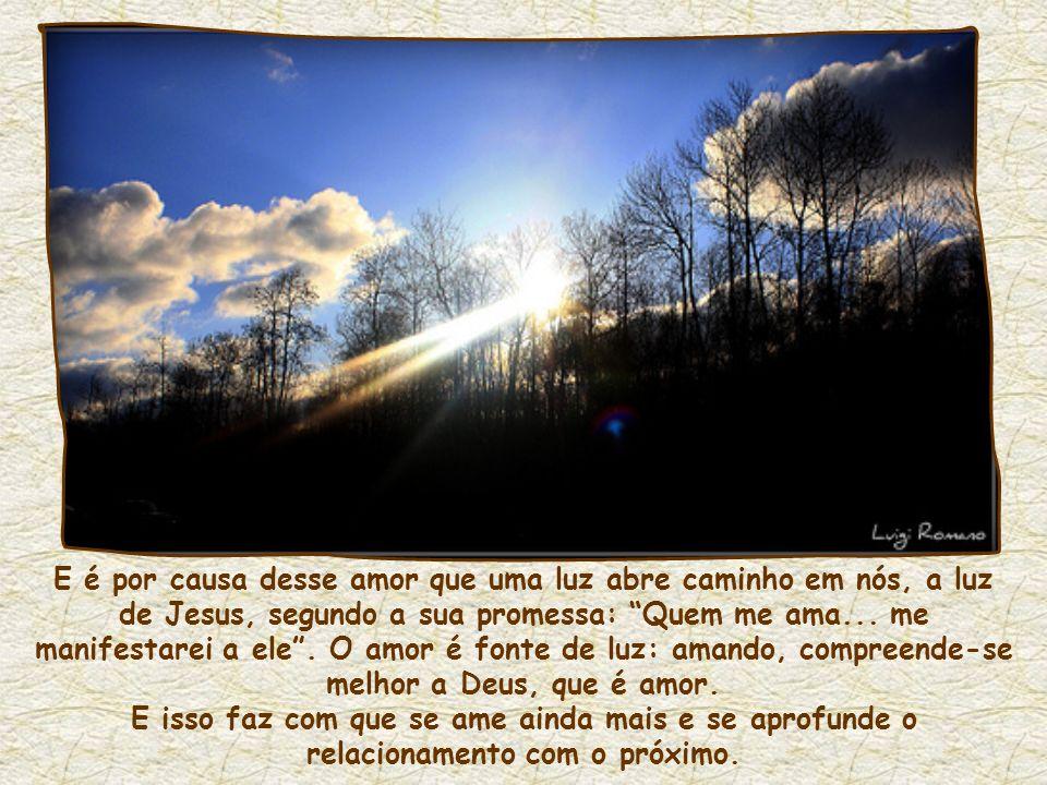 Diz Charles de Foucauld: Quando amamos alguém, estamos de verdade nele, estamos nele com o amor, vivemos nele com o amor, não vivemos mais em nós mesm