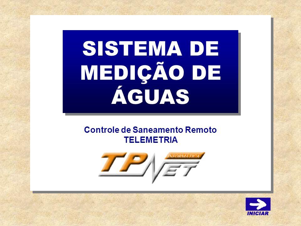 SISTEMA DE MEDIÇÃO DE ÁGUAS Controle de Saneamento Remoto TELEMETRIA