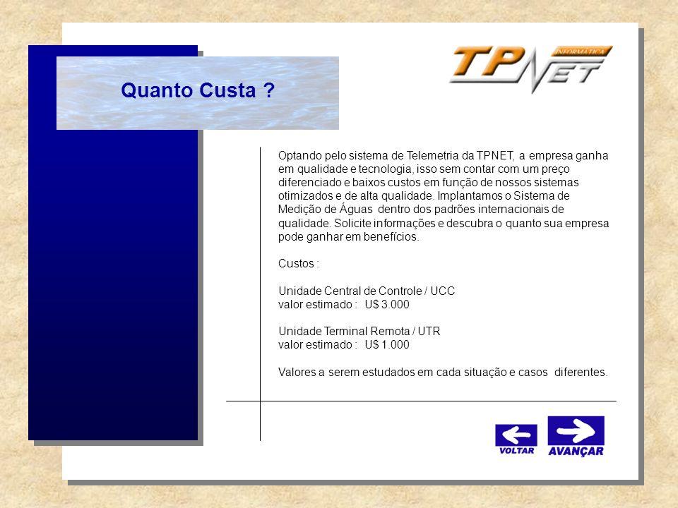 Quanto Custa ? Optando pelo sistema de Telemetria da TPNET, a empresa ganha em qualidade e tecnologia, isso sem contar com um preço diferenciado e bai
