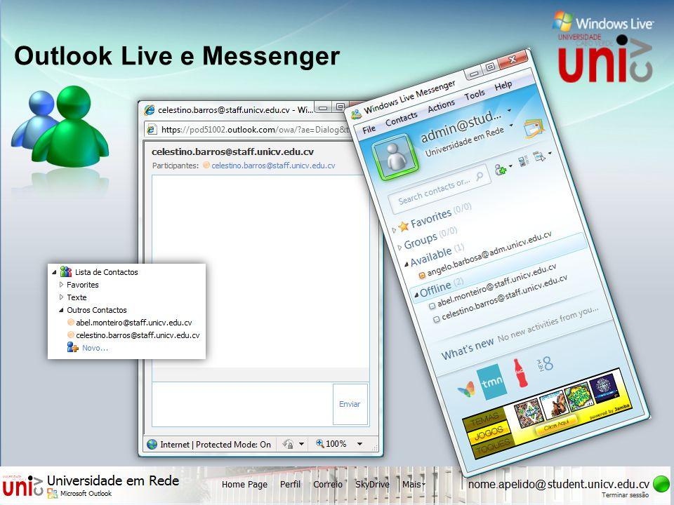 Outlook Live e Messenger