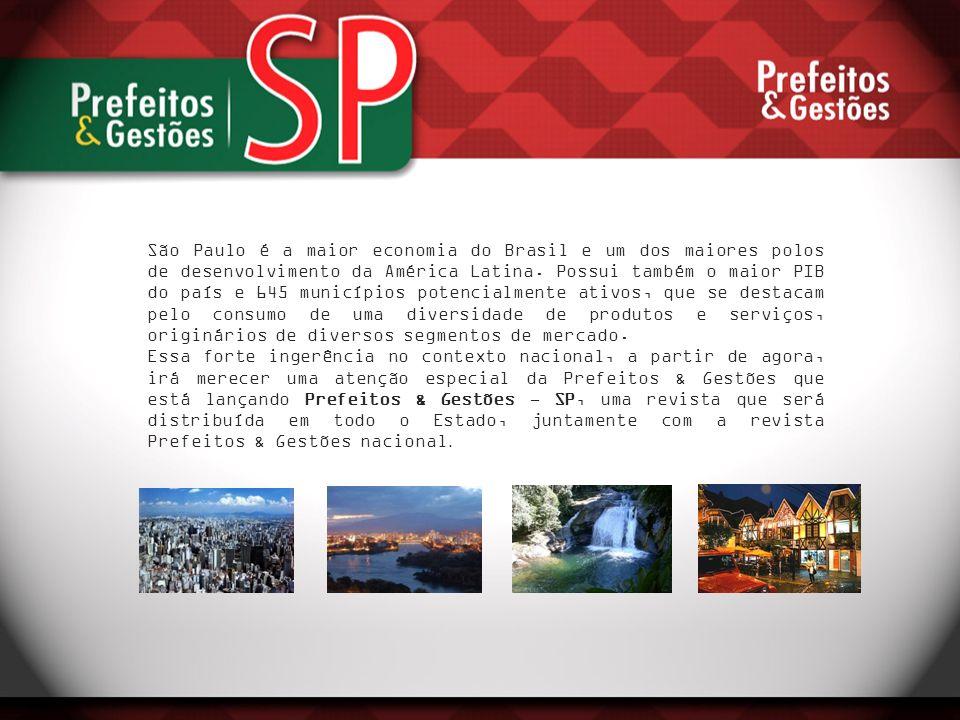São Paulo é a maior economia do Brasil e um dos maiores polos de desenvolvimento da América Latina. Possui também o maior PIB do país e 645 municípios