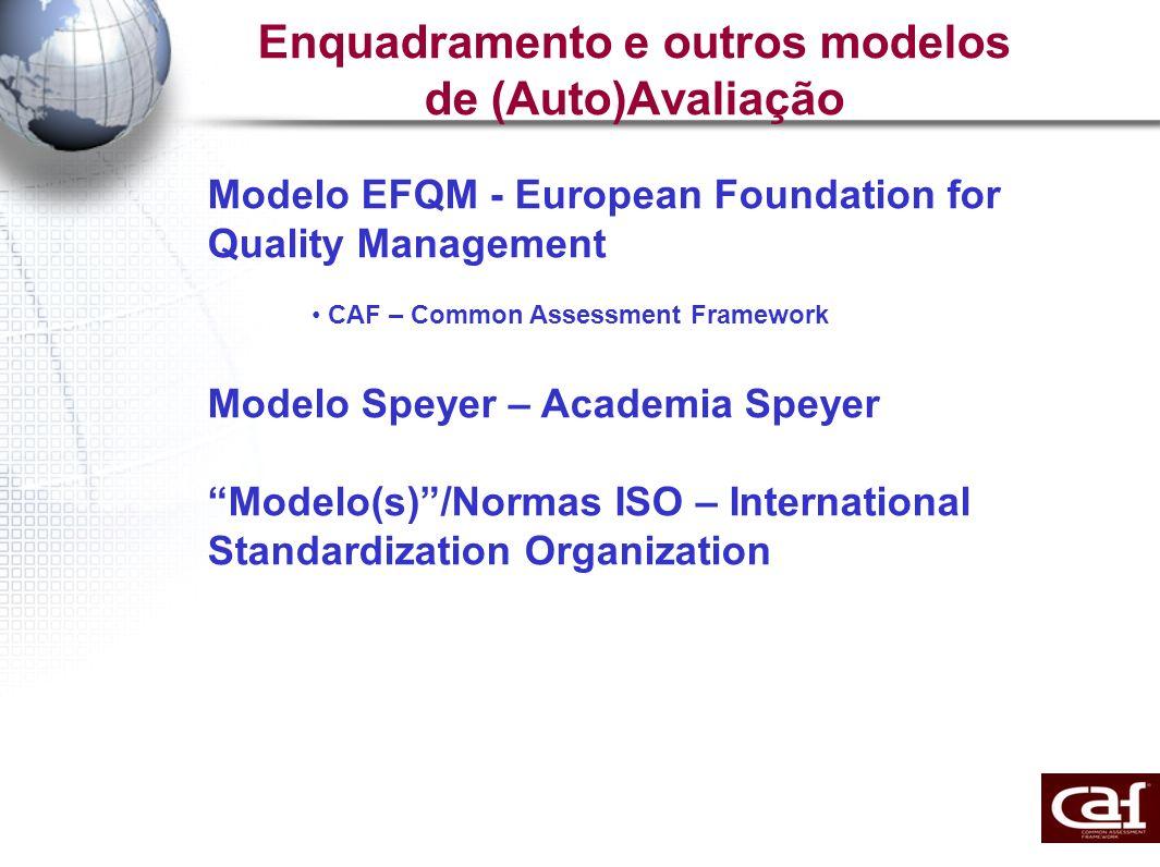 Estrutura da CAF 1.Liderança 2. Planeamento e Estratégia 3.