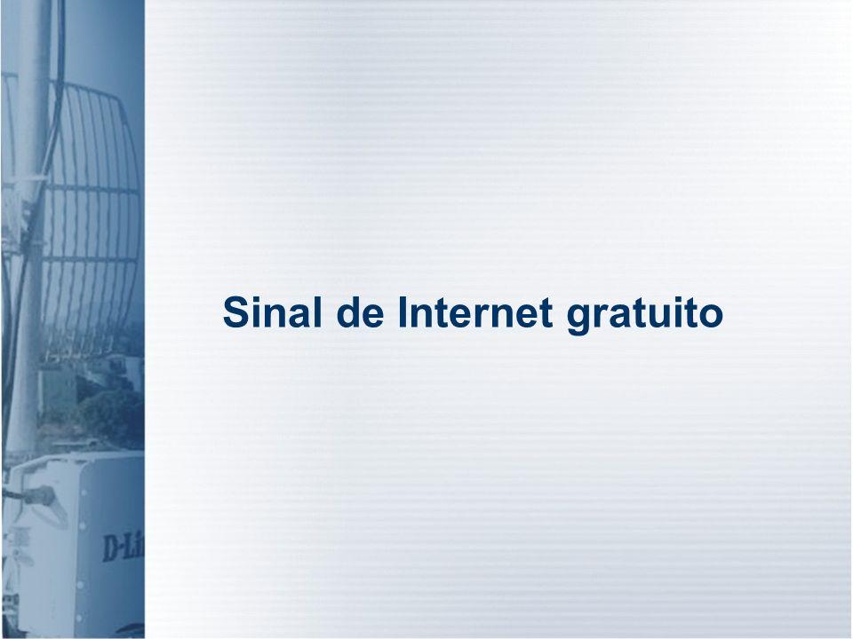 Sinal de Internet gratuito