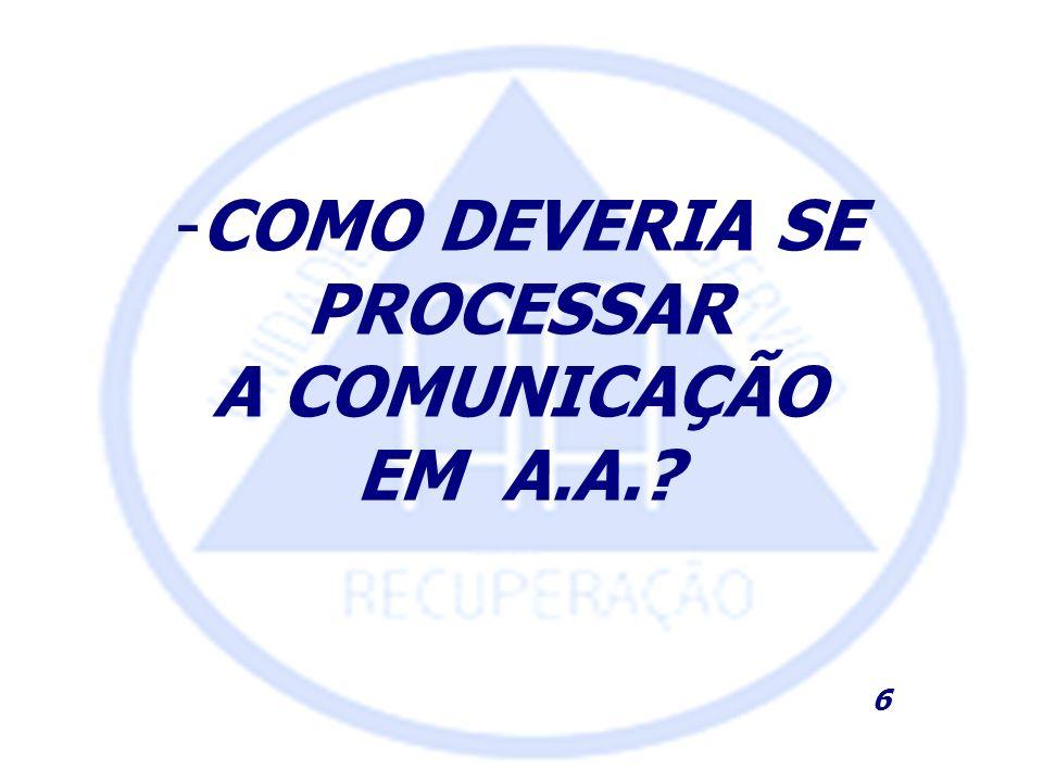 -COMO DEVERIA SE PROCESSAR A COMUNICAÇÃO EM A.A.? 6