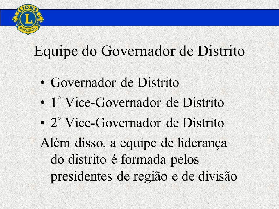 Governador de Distrito 1 ° Vice-Governador de Distrito 2 ° Vice-Governador de Distrito Além disso, a equipe de liderança do distrito é formada pelos p