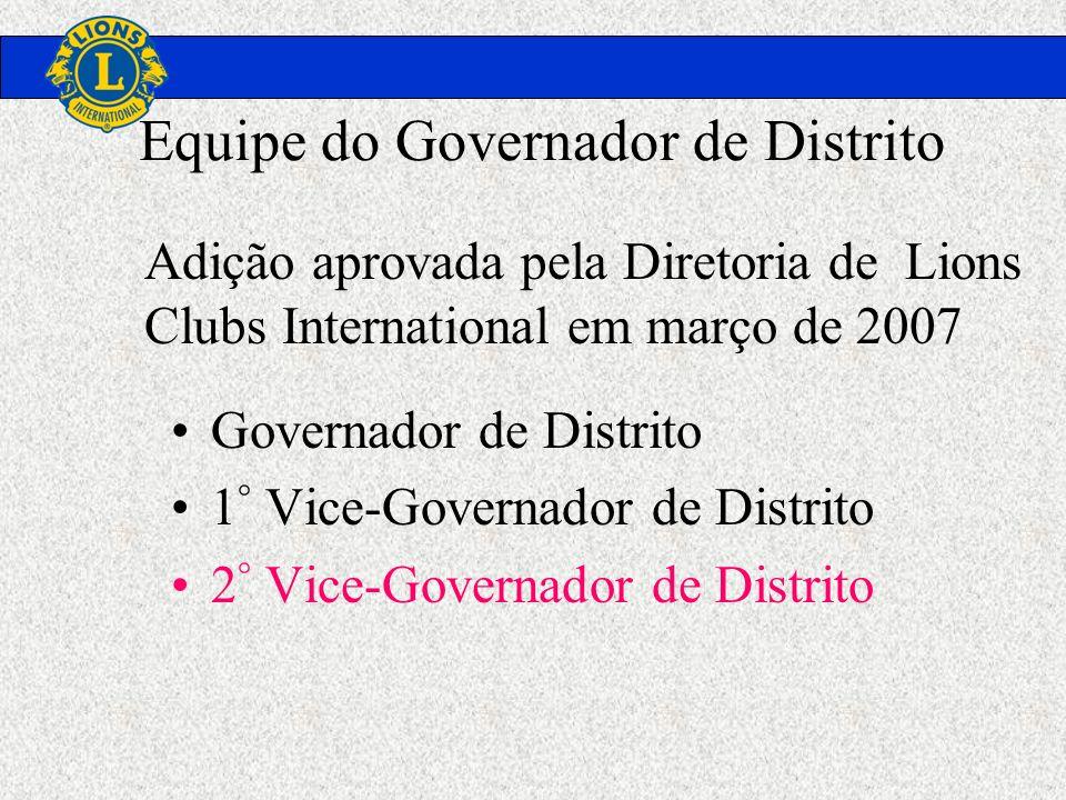 Equipe do Governador de Distrito Governador de Distrito 1 ° Vice-Governador de Distrito 2 ° Vice-Governador de Distrito Adição aprovada pela Diretoria