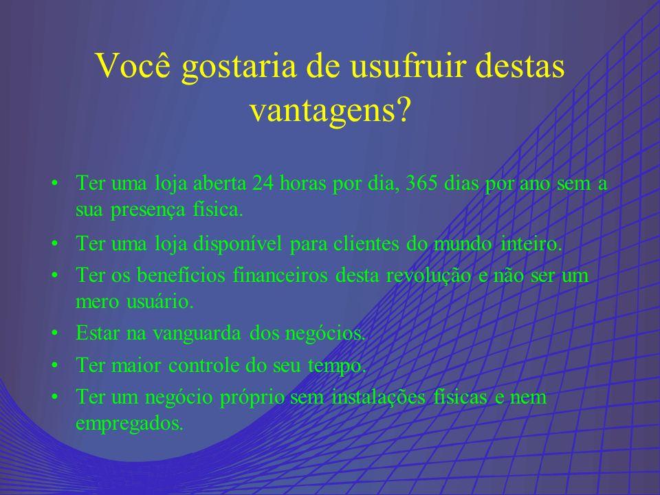 . Que as vendas pela web no Brasil correspondem à 88% do comércio eletrônico na América Latina? (Exame) Você sabia?. Que a Internet investirá no Brasi