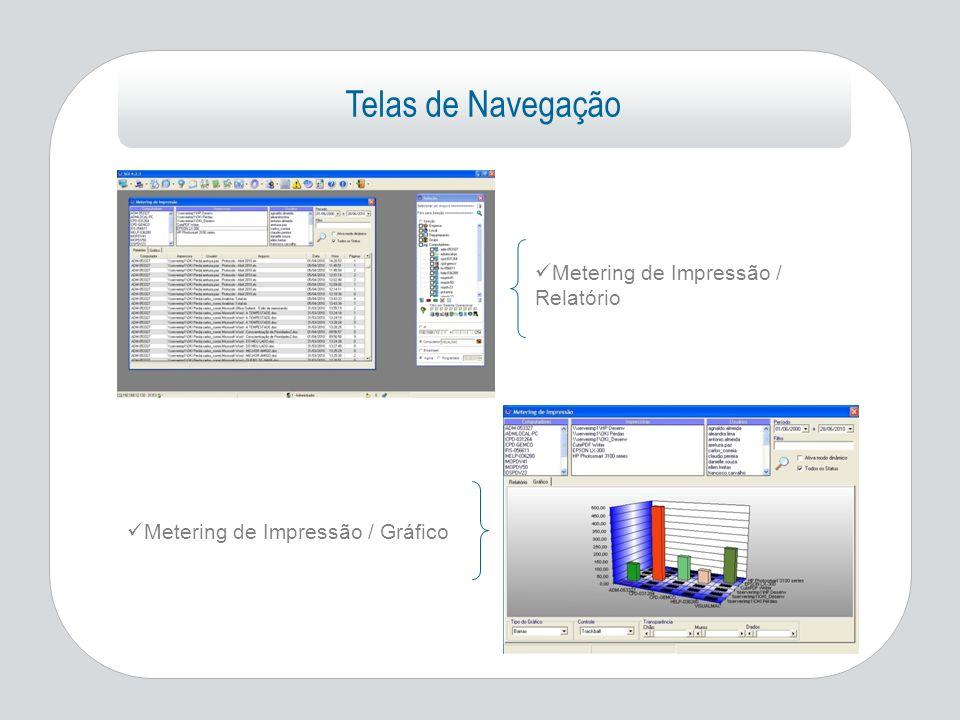 Telas de Navegação Metering de Impressão / Relatório Metering de Impressão / Gráfico