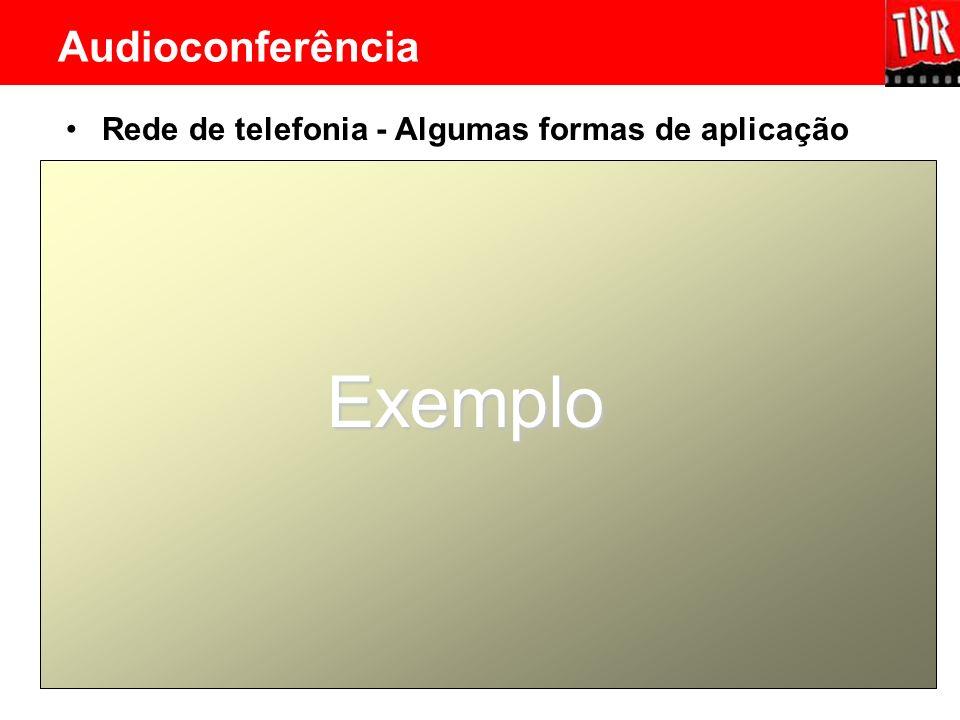 Rede de telefonia - Algumas formas de aplicação Exemplo Audioconferência
