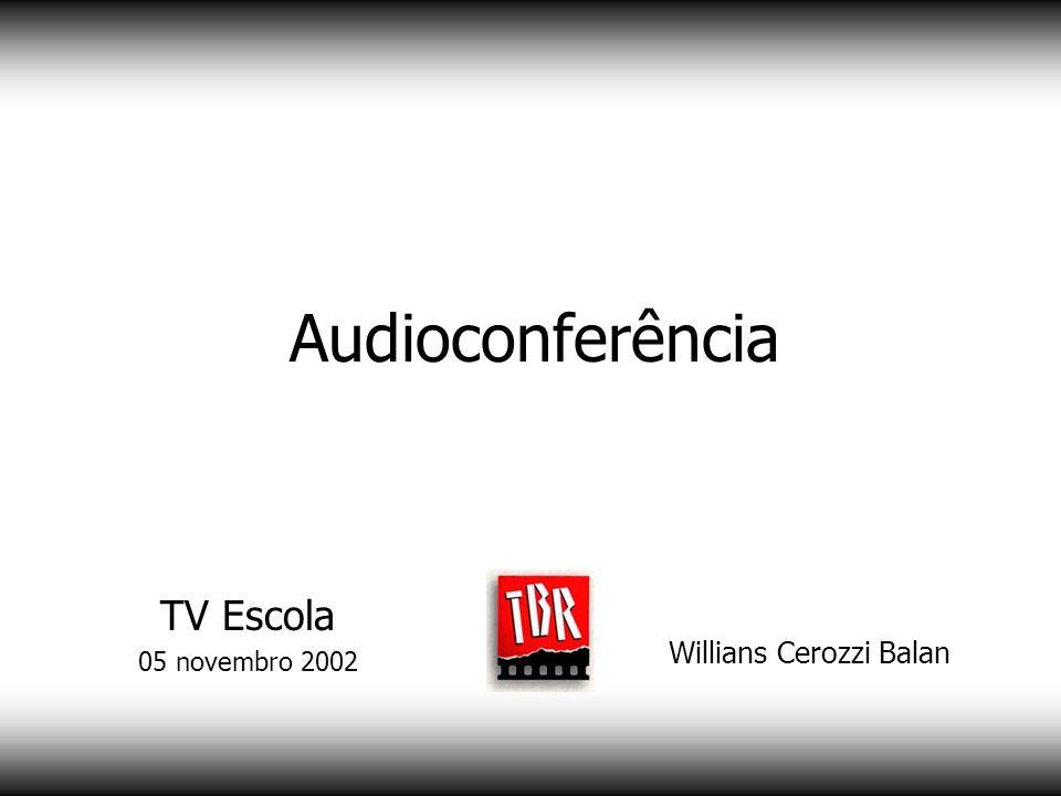 Videoconferência multiponto Willians Cerozzi Balan TV Escola 05 novembro 2002