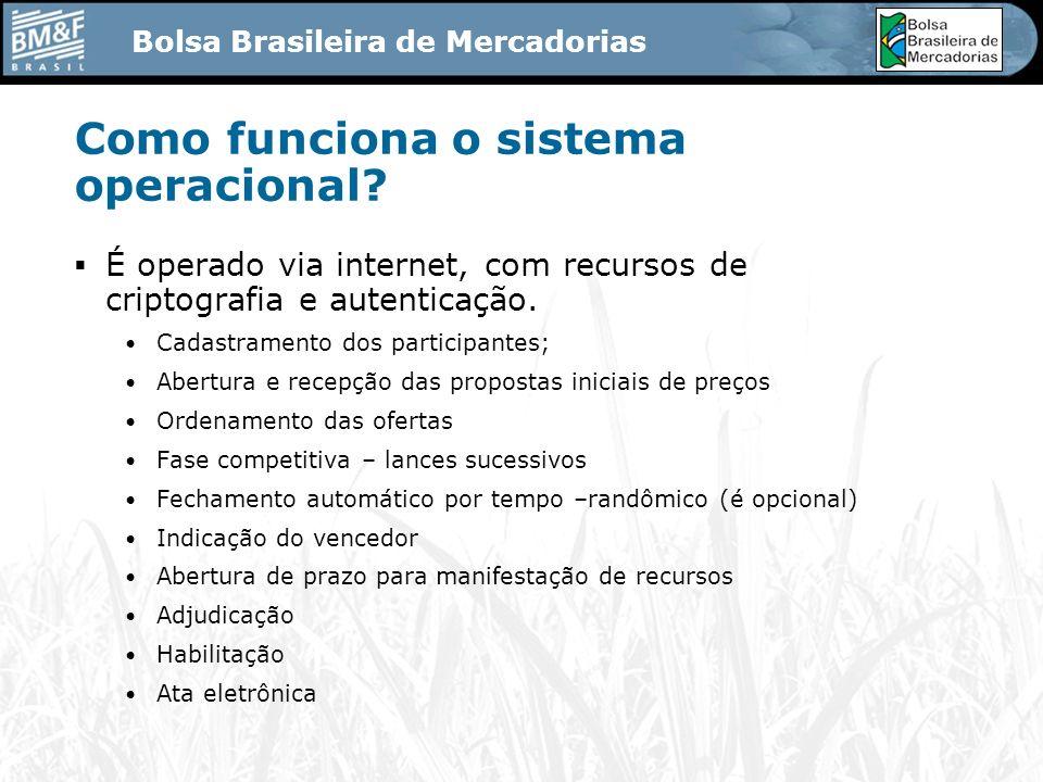 Bolsa Brasileira de Mercadorias Como funciona o sistema operacional.