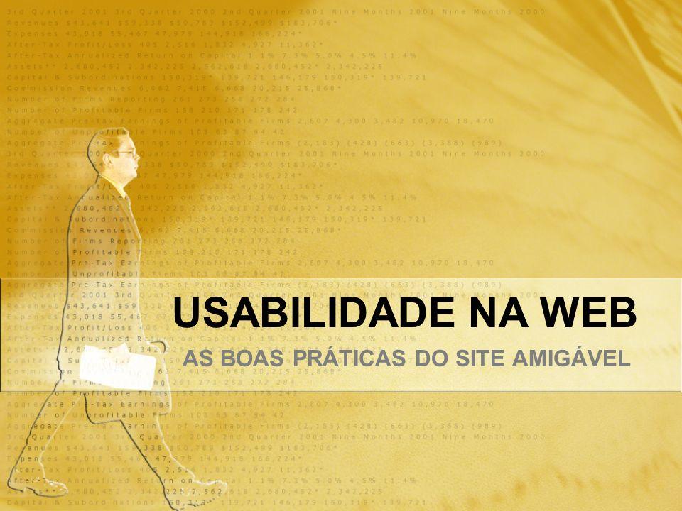 USABILIDADE NA WEB AS BOAS PRÁTICAS DO SITE AMIGÁVEL