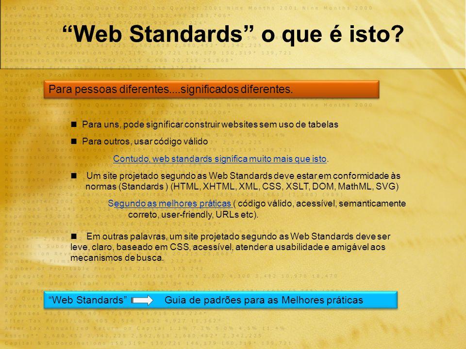 Web Standards o que é isto.