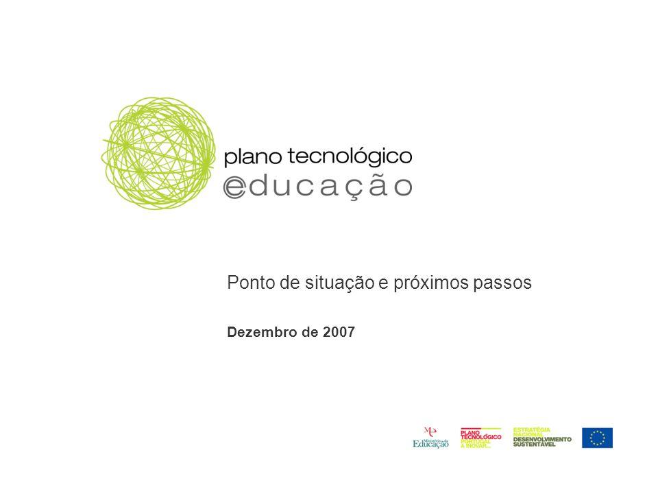Ponto de situação e próximos passos Dezembro de 2007