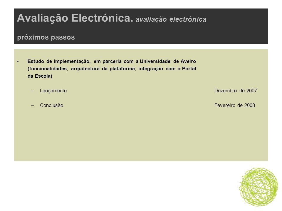 Avaliação Electrónica.