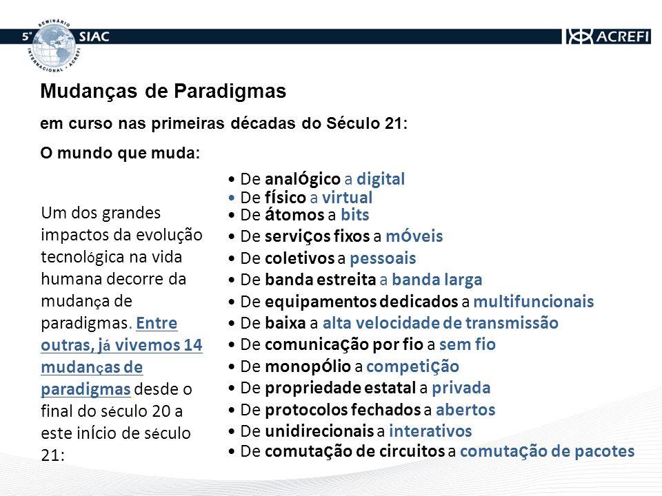 Mudanças de Paradigmas em curso nas primeiras década do Século 21: O mundo que muda: Um dos grandes impactos da evolução tecnol ó gica na vida humana