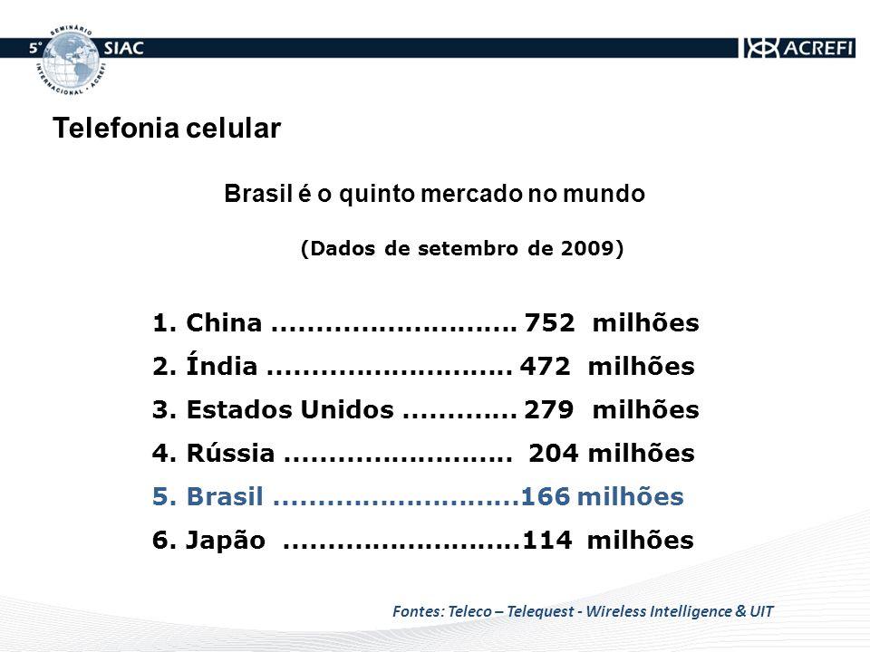 Em 10 anos o mundo terá mais celulares do que sua população.
