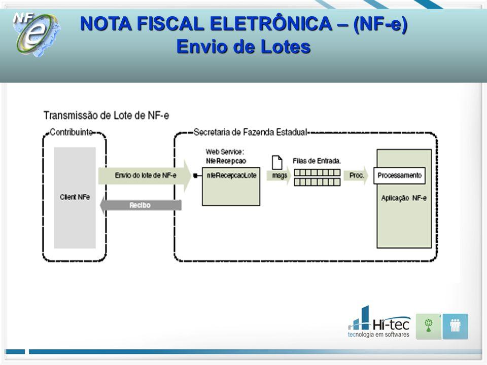 NOTA FISCAL ELETRÔNICA – (NF-e) Envio de Lotes