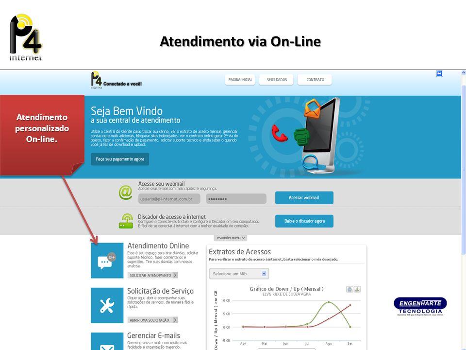 Atendimento personalizado On-line. On-line. Atendimento via On-Line