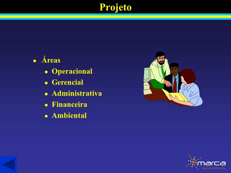 Projeto l Áreas l Operacional l Gerencial l Administrativa l Financeira l Ambiental