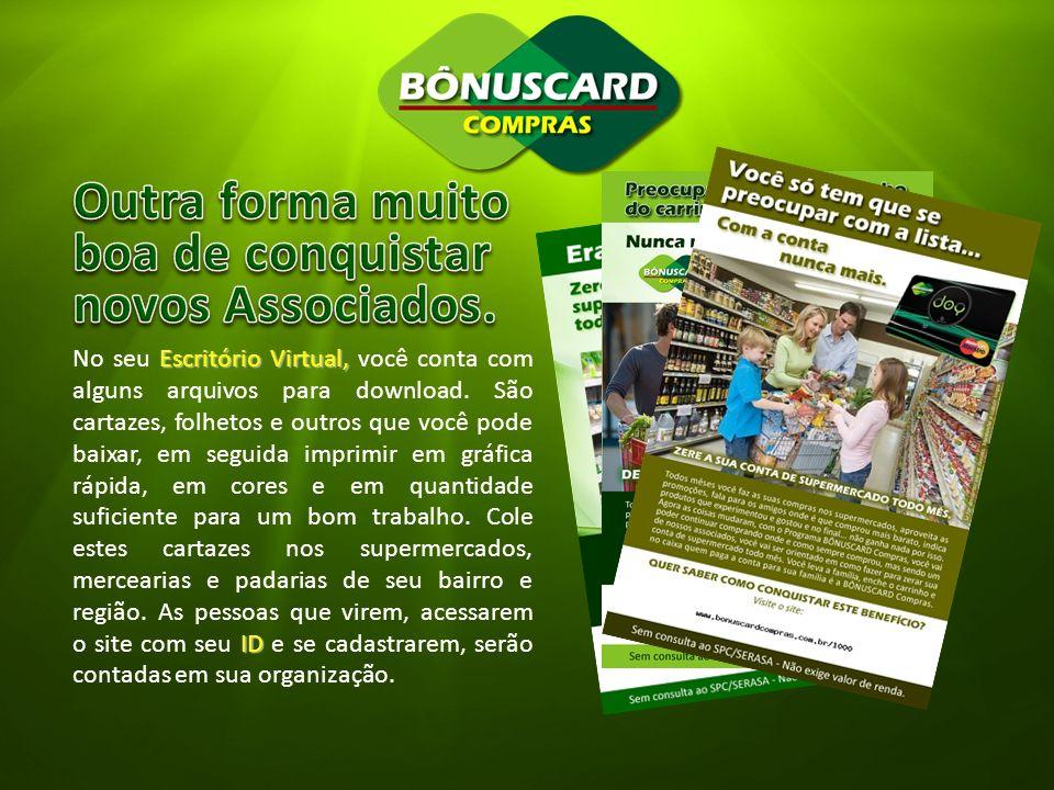 Escritório Virtual, ID No seu Escritório Virtual, você conta com alguns arquivos para download. São cartazes, folhetos e outros que você pode baixar,