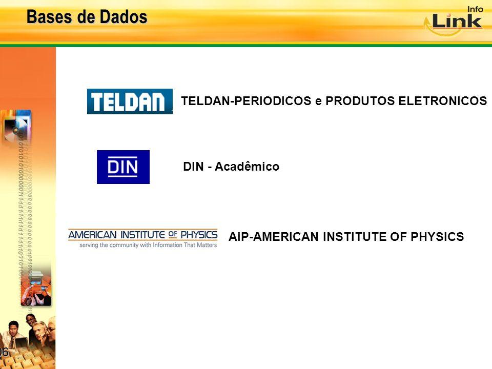 Bases de Dados TELDAN-PERIODICOS e PRODUTOS ELETRONICOS DIN - Acadêmico AiP-AMERICAN INSTITUTE OF PHYSICS 06 06