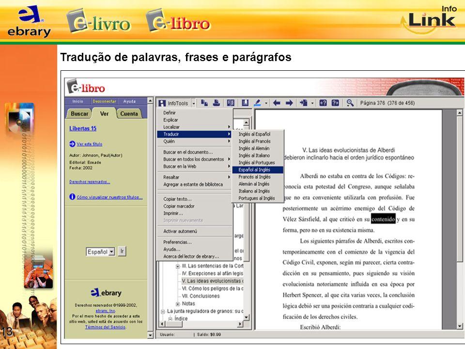 Tradução de palavras, frases e parágrafos 13