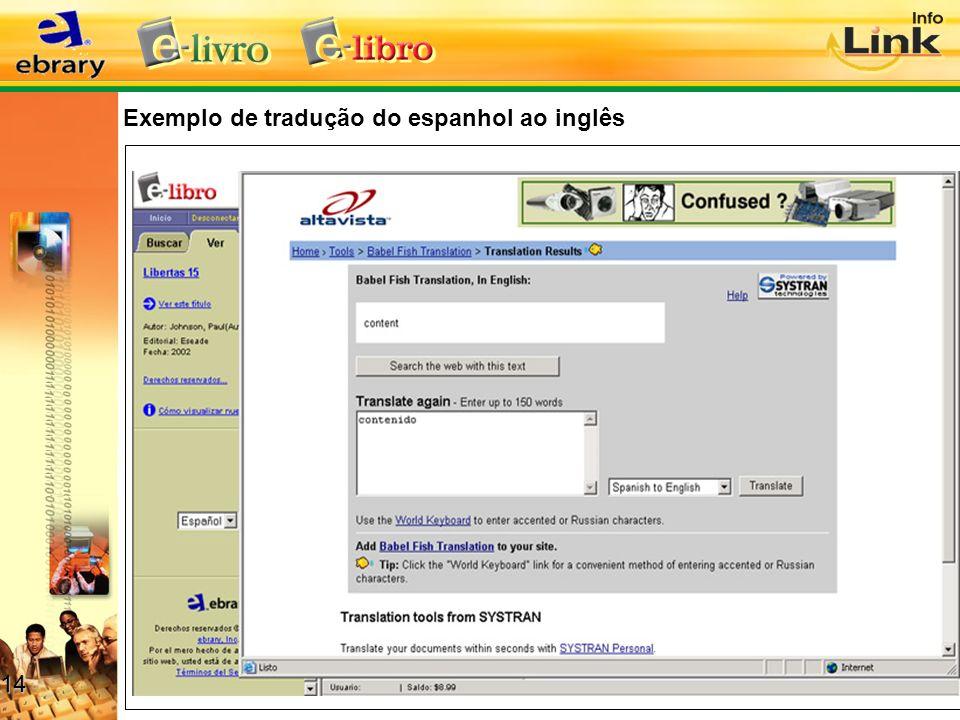 Exemplo de tradução do espanhol ao inglês 14