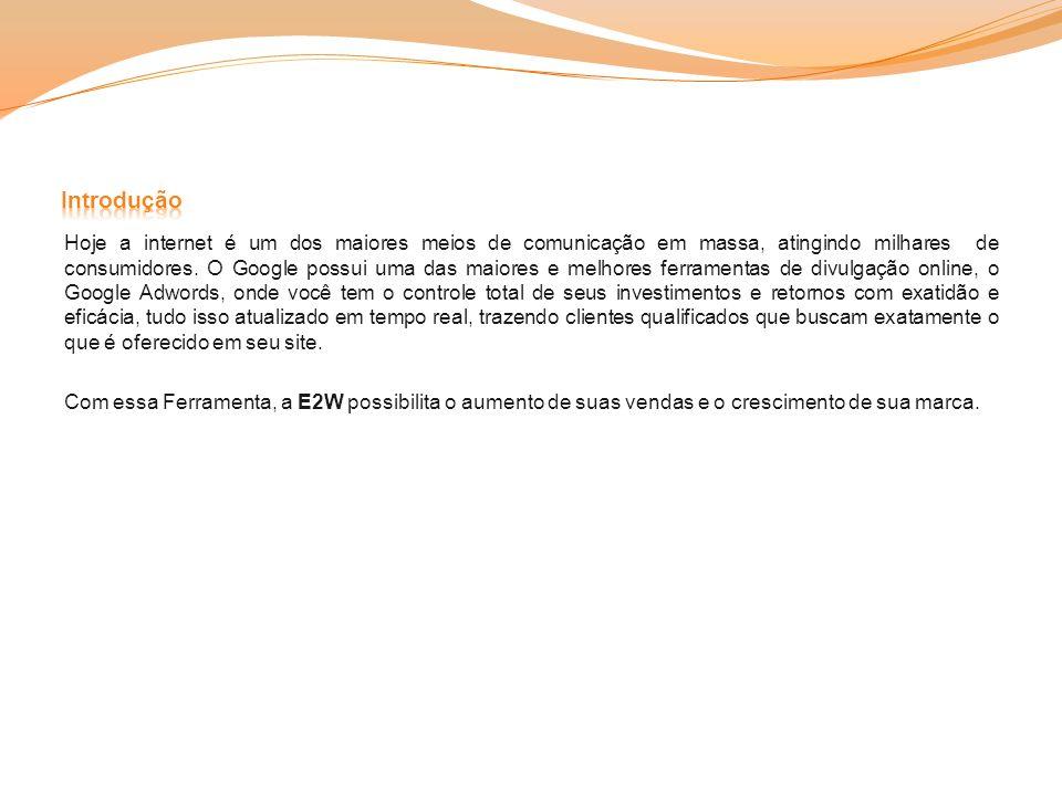 A E2W associa a sua publicidade com o que o cliente em potencial procura.