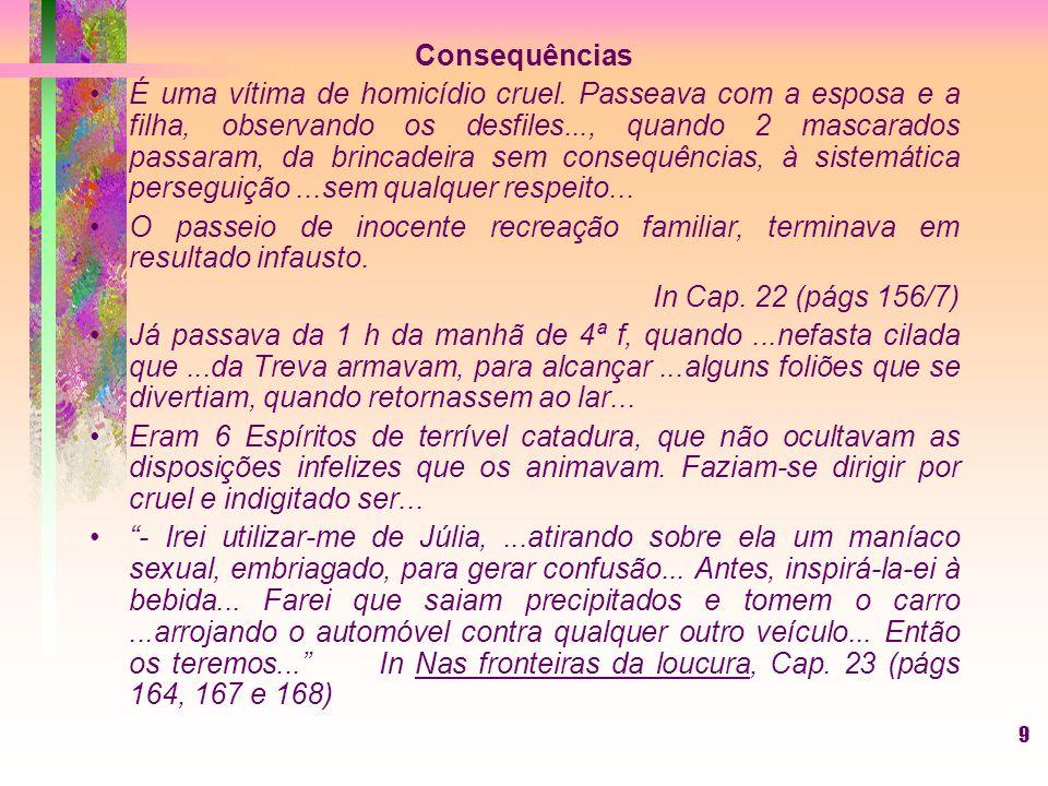 9 Consequências É uma vítima de homicídio cruel.