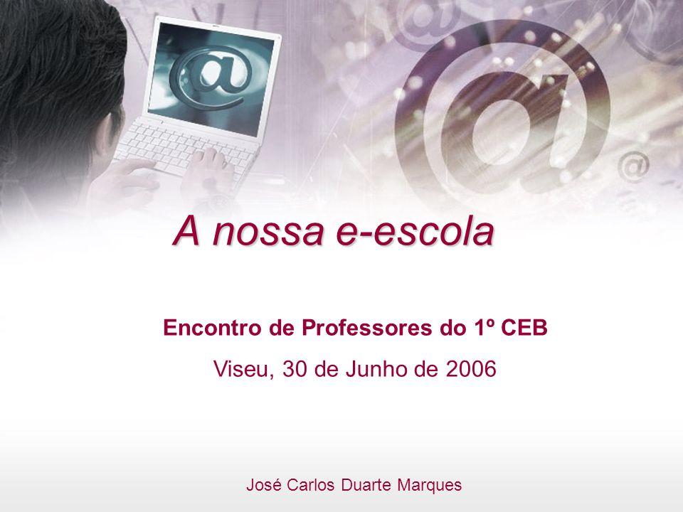 A nossa e-escola Encontro de Professores do 1º CEB Viseu, 30 de Junho de 2006 José Carlos Duarte Marques