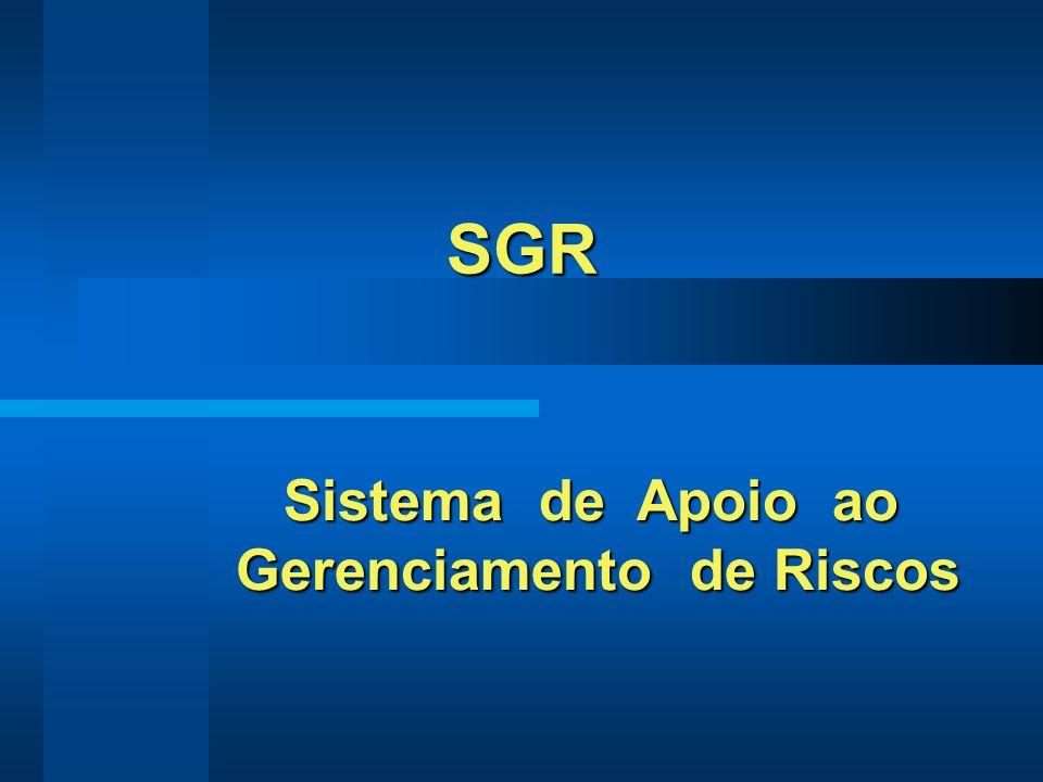 SGR Sistema de Apoio ao Sistema de Apoio ao Gerenciamento de Riscos Gerenciamento de Riscos