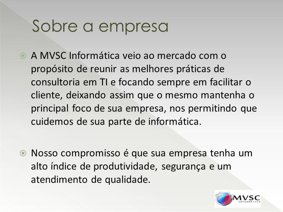 A MVSC Informática veio ao mercado com o propósito de reunir as melhores práticas de consultoria em TI e focando sempre em facilitar o cliente, deixan