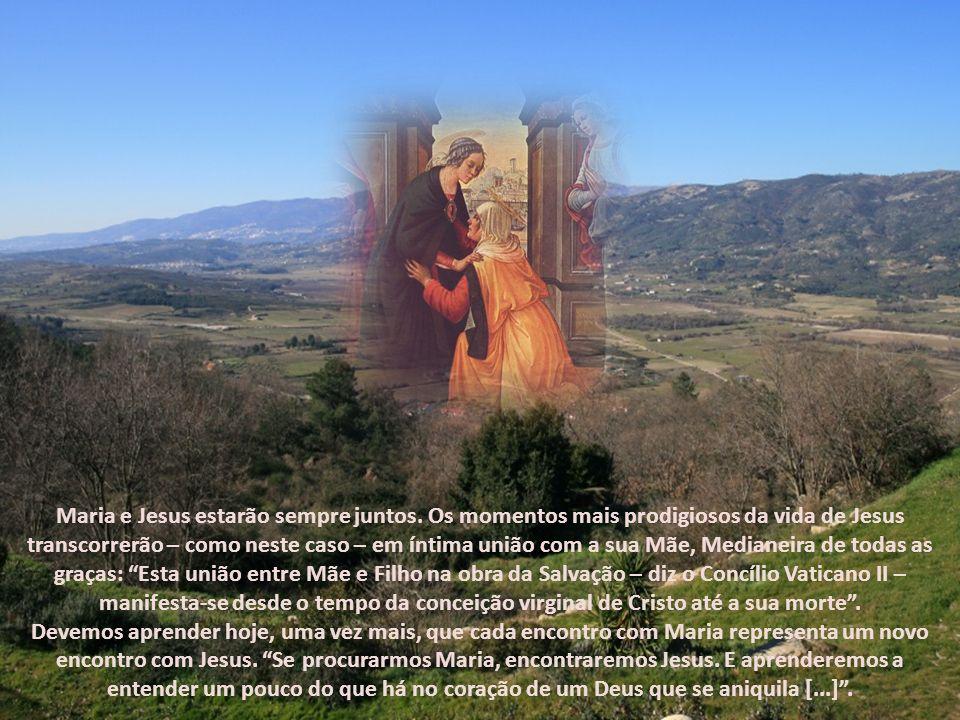 À CHEGADA DE NOSSA SENHORA, Isabel, repleta do Espírito Santo, proclama em voz alta: Bendita és tu entre as mulheres, e bendito é o fruto do teu ventr