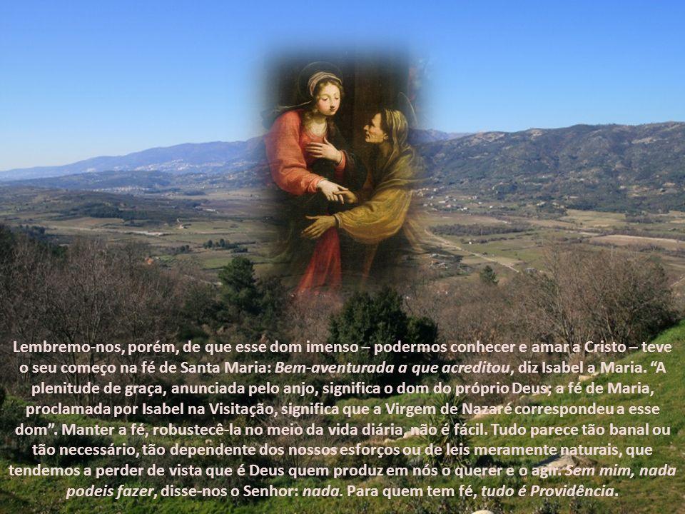 Maria e Jesus estarão sempre juntos. Os momentos mais prodigiosos da vida de Jesus transcorrerão – como neste caso – em íntima união com a sua Mãe, Me