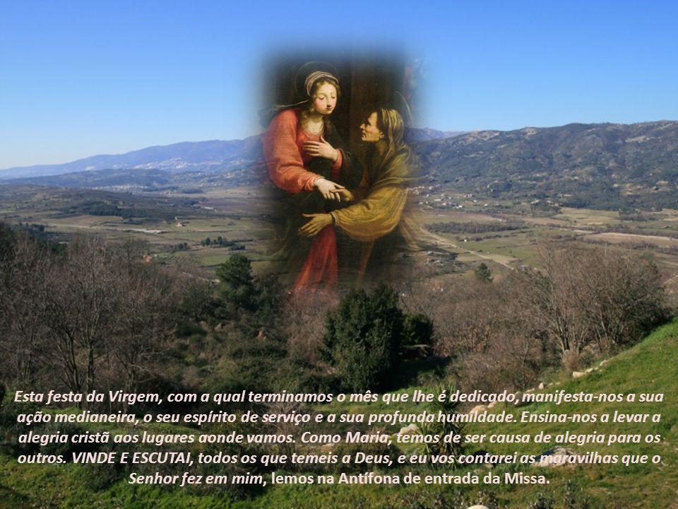 A festa de hoje, instituída por Urbano VI em 1389, situa-se entre a Anunciação do Senhor e o nascimento de João Batista, de acordo com o relato evangé