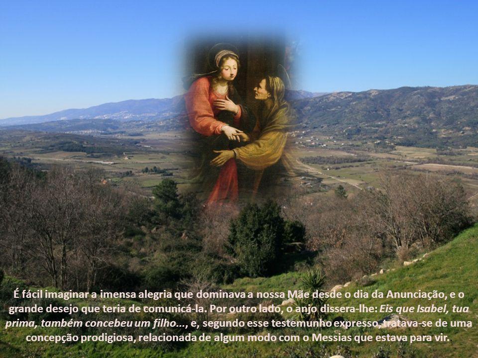 Ninguém a obriga; Deus, através do Anjo, não lhe exigira nada nesse sentido, e Isabel não lhe solicitara ajuda. Maria poderia ter permanecido na sua p