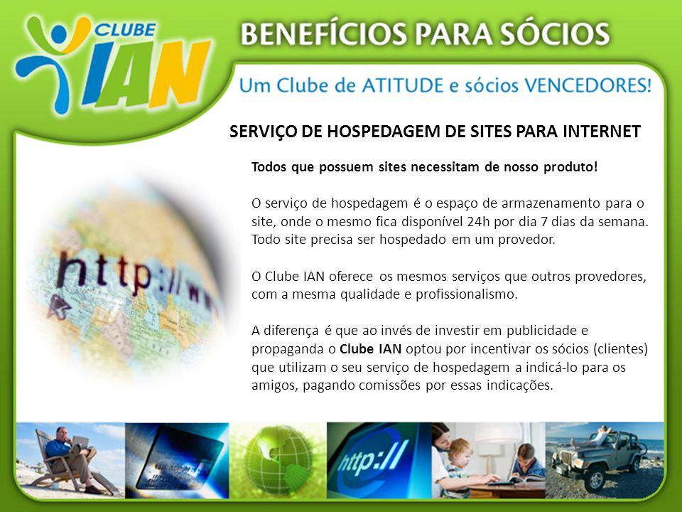 SERVIÇO DE HOSPEDAGEM DE SITES PARA INTERNET Todos que possuem sites necessitam de nosso produto! O serviço de hospedagem é o espaço de armazenamento