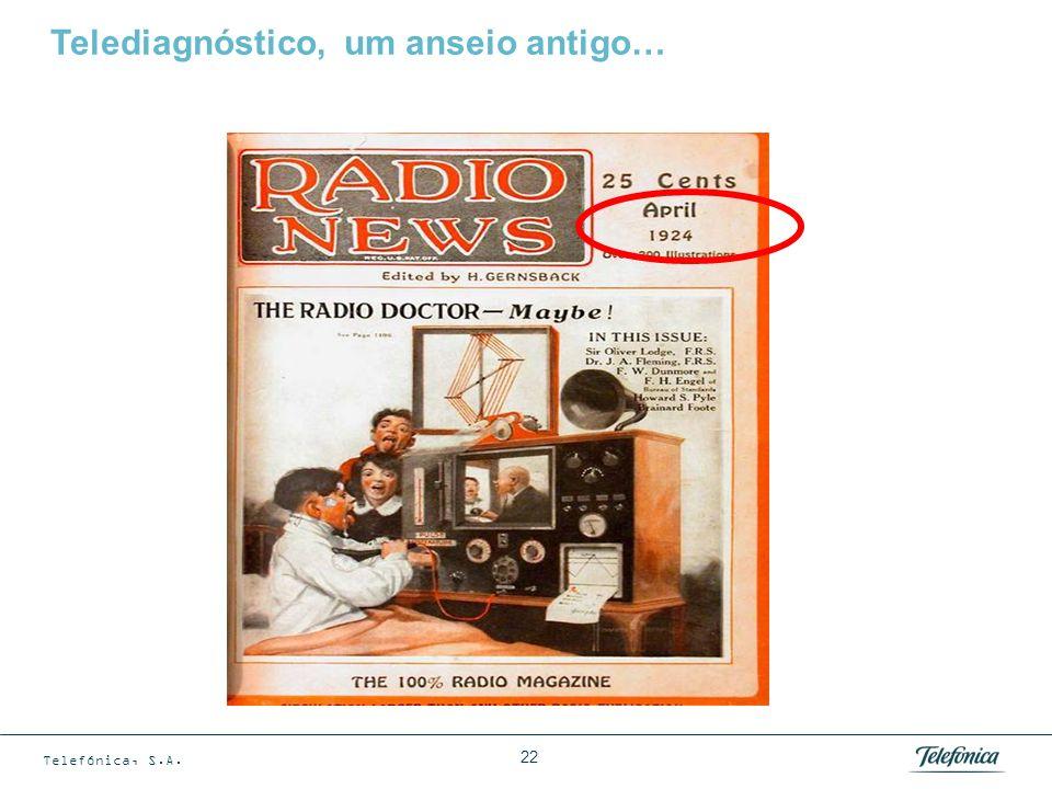 Telefónica, S.A. 22 Telediagnóstico, um anseio antigo…