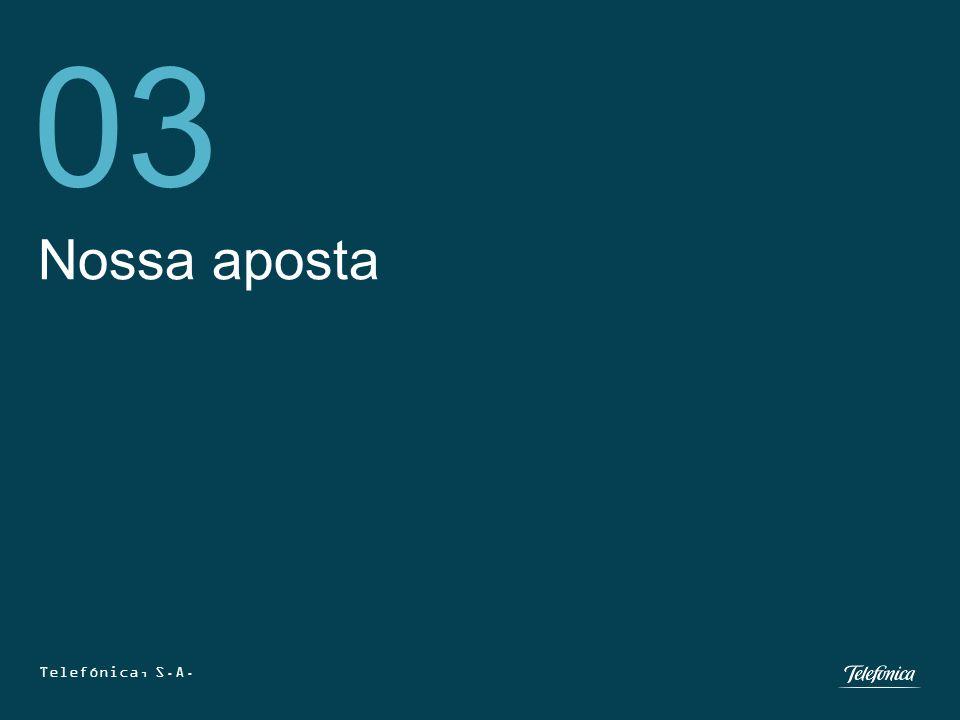 Telefónica, S.A. 25 Nossa aposta 03 Telefónica, S.A.
