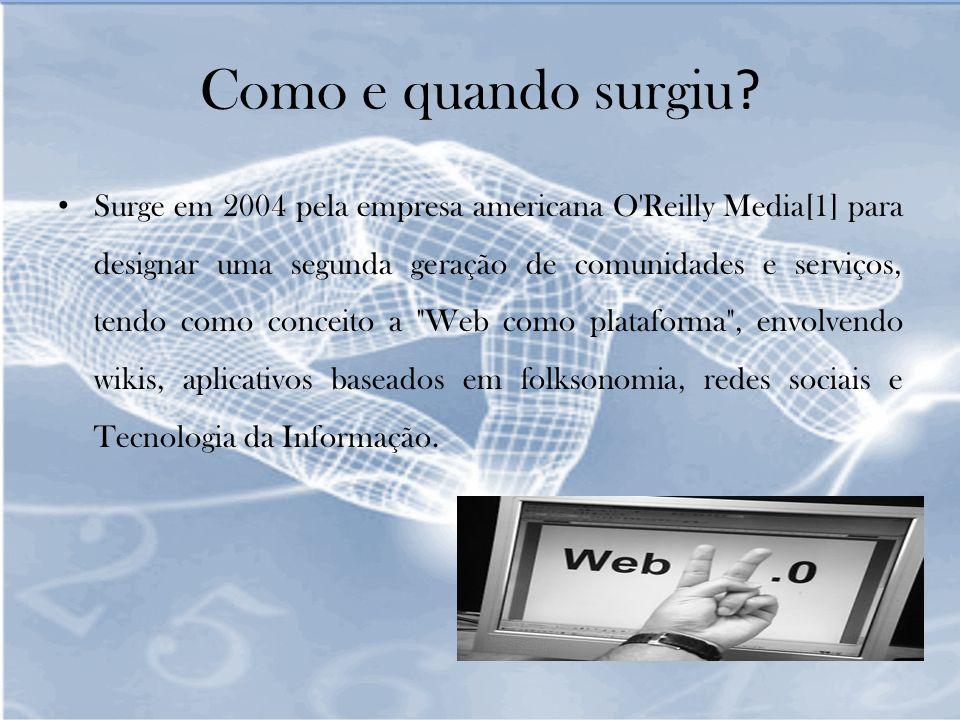 Partilham e neutralizam informação; Substituem aplicações de desktop; Os utilizadores acrescentam valor ; O que caracteriza uma ferramenta web 2.0 ?