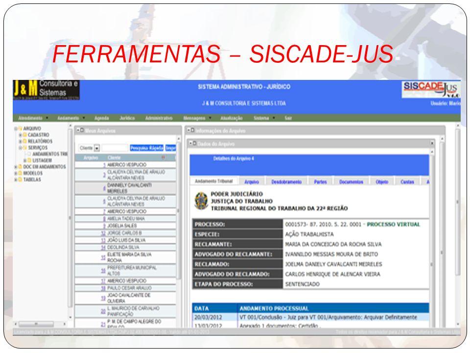FERRAMENTAS – SISCADE-JUS
