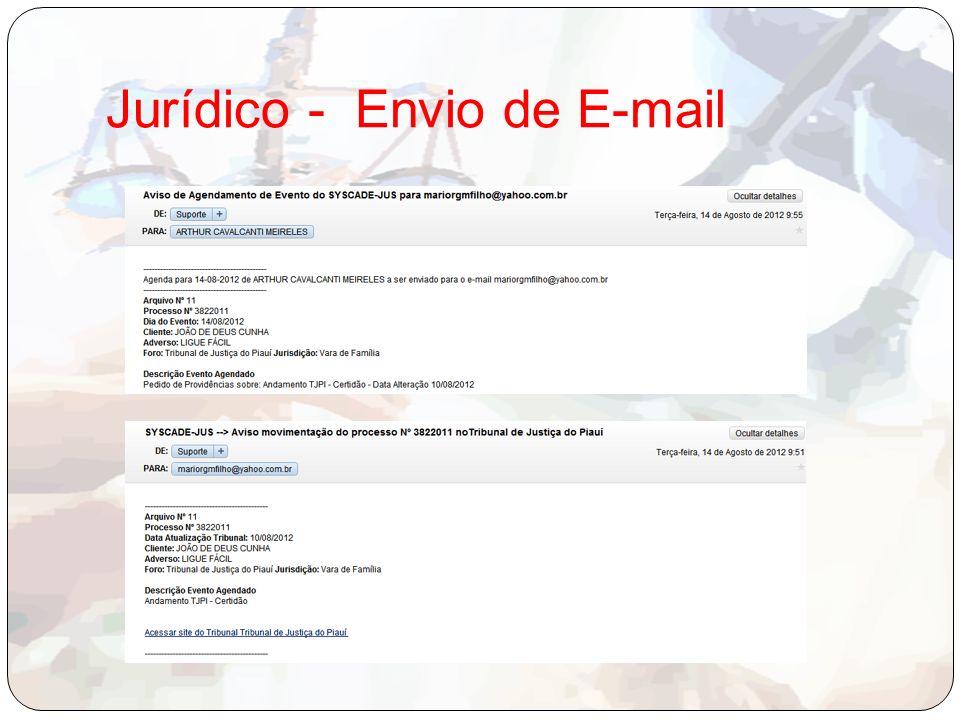 Jurídico - Envio de E-mail