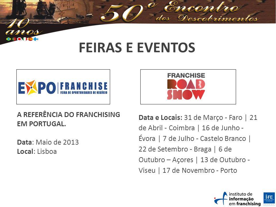 FEIRAS E EVENTOS A REFERÊNCIA DO FRANCHISING EM PORTUGAL.