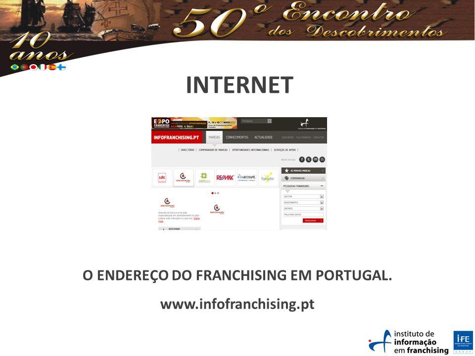 INTERNET O ENDEREÇO DO FRANCHISING EM PORTUGAL. www.infofranchising.pt